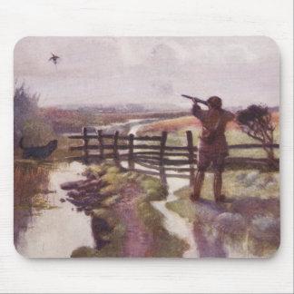 Vintage Duck Hunting Gun Dog Sportsman Mousepad