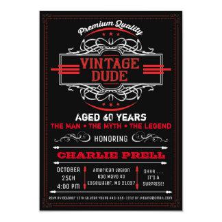 Vintage Dude Birthday Man Myth Legend Invitation