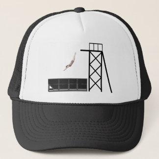 vintage dumpster diving gifts trucker hat