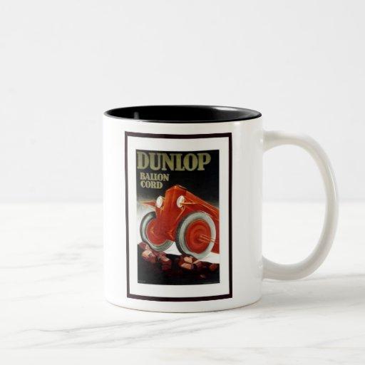 Vintage Dunlop Ballon Cord Auto Parts Ad Two-Tone Mug