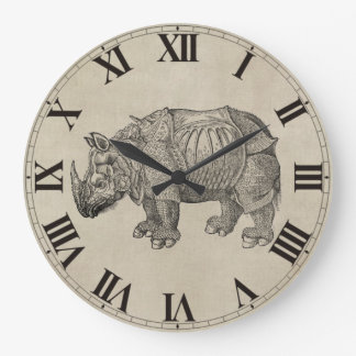 Vintage Durer Rhino Clock