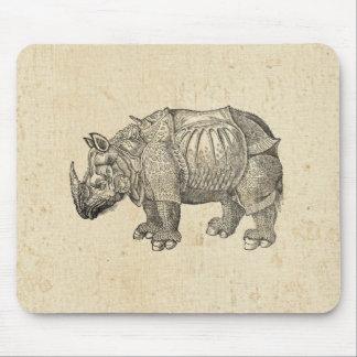 Vintage Durer Rhino Mouse Mat
