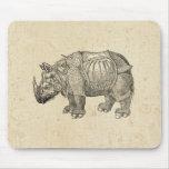 Vintage Durer Rhino Mouse Pad