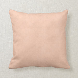 Vintage Dusty Peach Parchment Template Blank Throw Pillow