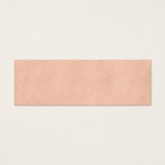 Vintage Dusty Peach Parchment Template Blank Mini Business Card