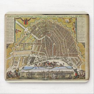 Vintage Dutch Image, 19th century  Amsterdam map Mouse Mat