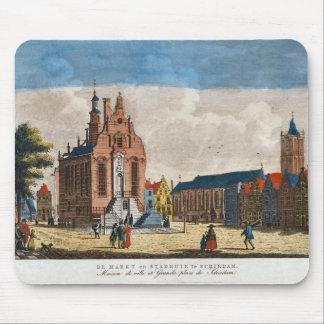 Vintage Dutch Image, Schiedam, market place Mouse Pad