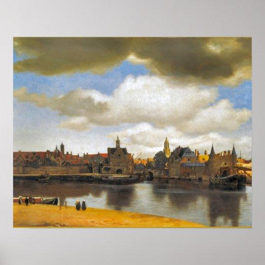 Vintage Dutch Image, Vermeer, view of Delft Poster
