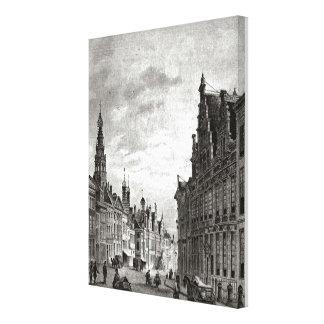 VIntage Dutch    Leiden, main street Canvas Print