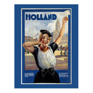 Vintage Dutch Travel Poster Postcard