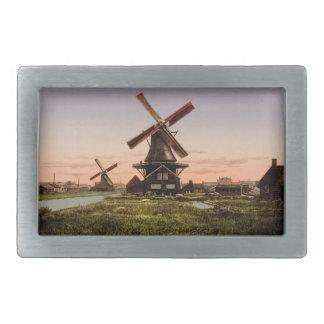 Vintage Dutch Windmills belt buckle