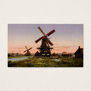 Windmill business cards business card printing zazzle uk vintage dutch windmills custom business cards reheart Images