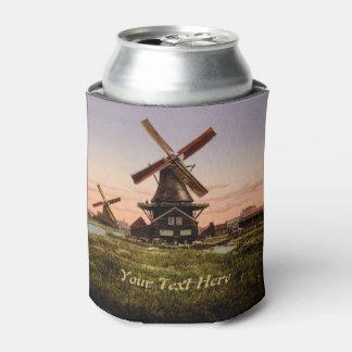 Vintage Dutch Windmills custom can cooler
