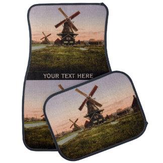 Vintage Dutch Windmills custom car floor mats