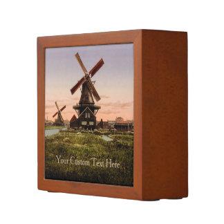 Vintage Dutch Windmills custom desk organizer