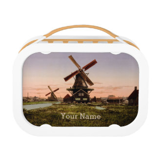 Vintage Dutch Windmills custom lunch box