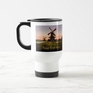 Vintage Dutch Windmills custom mugs