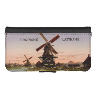 Vintage Dutch Windmills custom phone wallets
