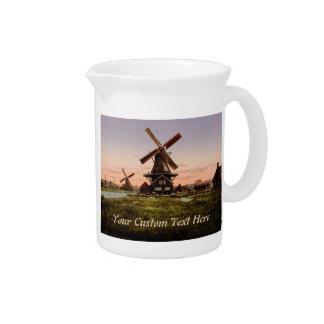 Vintage Dutch Windmills custom pitcher