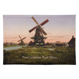 Vintage Dutch Windmills custom placemats