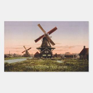Vintage Dutch Windmills custom stickers