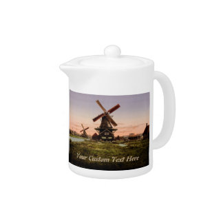 Vintage Dutch Windmills custom teapot