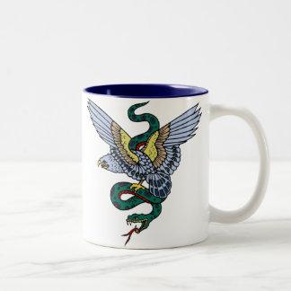 Vintage Eagle and Snake Tattoo Art Coffee Mug