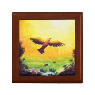vintage eagle rising into the air gift box