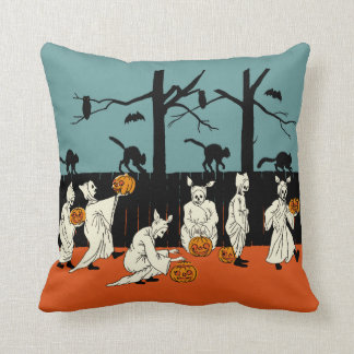 "Vintage Early 1900s Halloween ""Spooks On Parade"" Cushion"