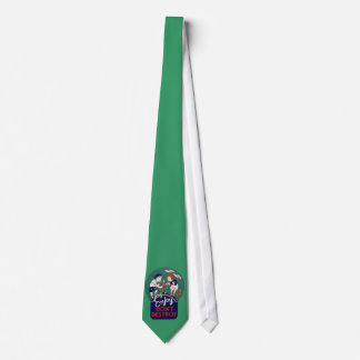 Vintage Earth day Illustration Tie