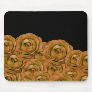Vintage Earth Tone Roses Grunge Mouse Pad