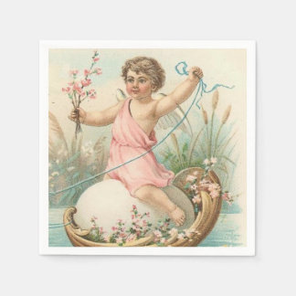 Vintage Easter Angel paper napkins