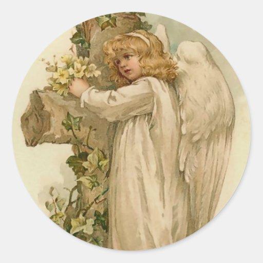 Vintage Easter Angel Sticker