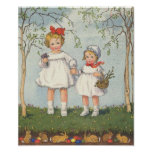 Vintage Easter Art Poster