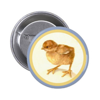 Vintage Easter Baby Chick 6 Cm Round Badge