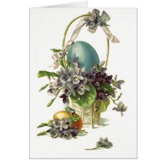 Vintage Easter Basket Card