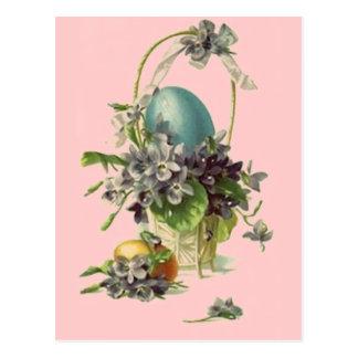 Vintage Easter Basket Postcard