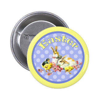 Vintage Easter Bunnies and Baby Chicks Buttons