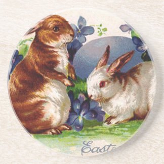 Vintage Easter Bunnies Coasters