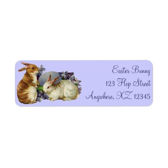Vintage Easter Bunnies Return Address Label