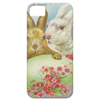 Vintage Easter Bunnies With Easter Egg Easter Card iPhone 5 Covers