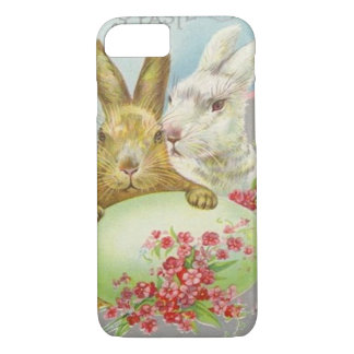 Vintage Easter Bunnies With Easter Egg Easter Card iPhone 7 Case