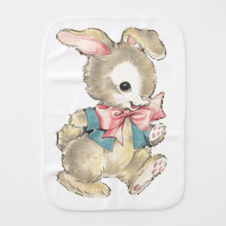 Vintage Easter Bunny Burp Cloth