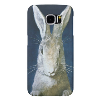 Vintage Easter Bunny, Cute Furry White Rabbit Samsung Galaxy S6 Cases