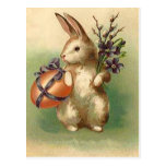 Vintage Easter Bunny Easter Egg Flowers Easter Car Postcards