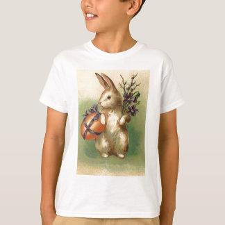 Vintage Easter Bunny Easter Egg Flowers Easter Car T-Shirt