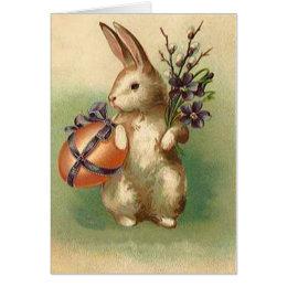 Vintage easter gifts on zazzle uk vintage easter bunny easter egg flowers easter card negle Choice Image