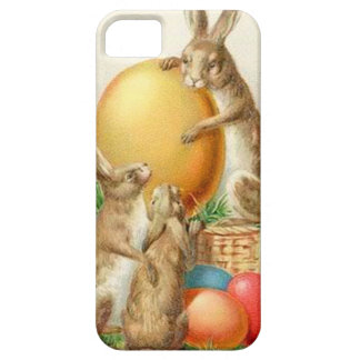 Vintage Easter Bunny Easter Eggs Easter Card iPhone 5 Covers