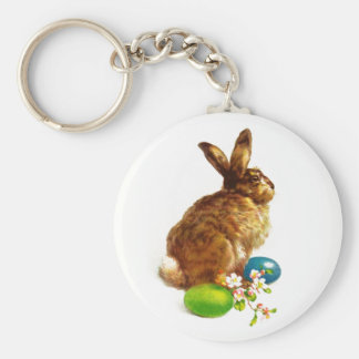 Vintage Easter Bunny. Easter Gift  Keychain