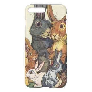 Vintage Easter bunny family iPhone 7 Plus Case